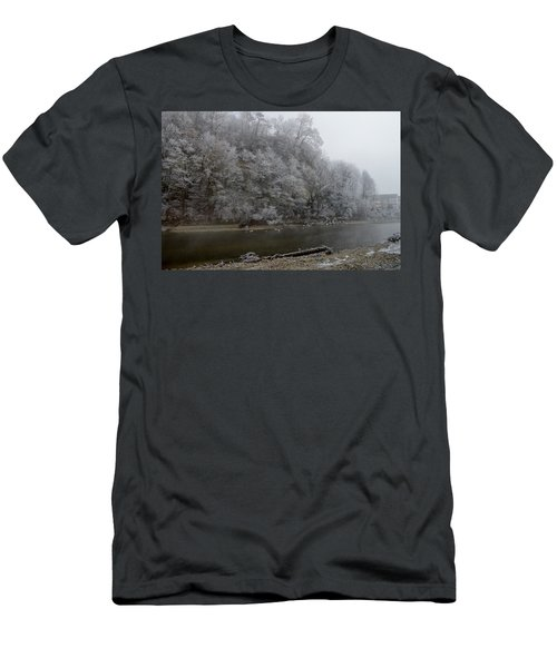 Men's T-Shirt (Slim Fit) featuring the photograph December Morning On The River by Felicia Tica