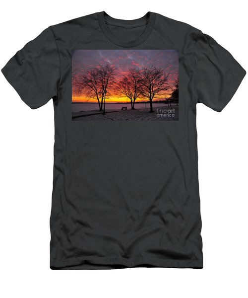 Men's T-Shirt (Slim Fit) featuring the photograph December Sunset by Terri Gostola