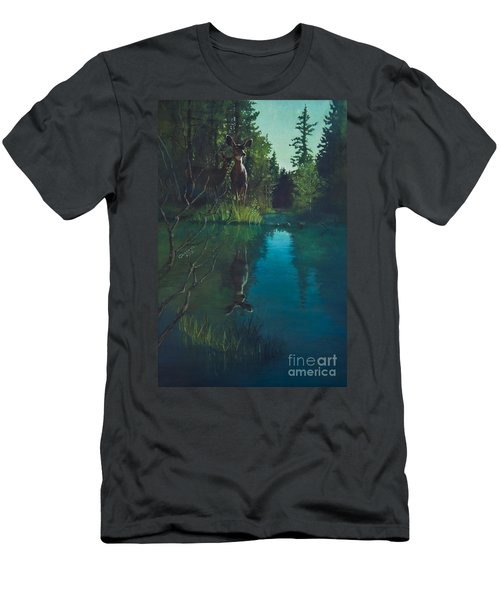 Deer Crossing Men's T-Shirt (Athletic Fit)