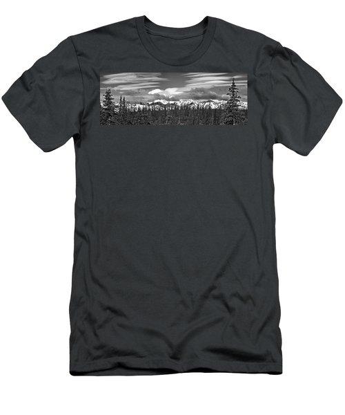 Denali In Clouds Men's T-Shirt (Athletic Fit)