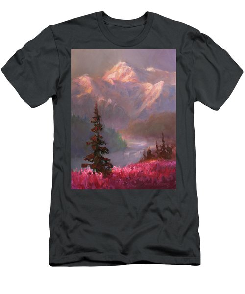 Denali Summer - Alaskan Mountains In Summer Men's T-Shirt (Slim Fit) by Karen Whitworth