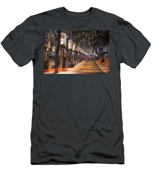 Denver's 16th Street Mall At Christmas Men's T-Shirt (Athletic Fit)