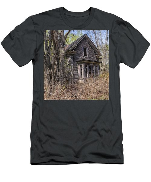 Men's T-Shirt (Slim Fit) featuring the photograph Derelict House by Marty Saccone