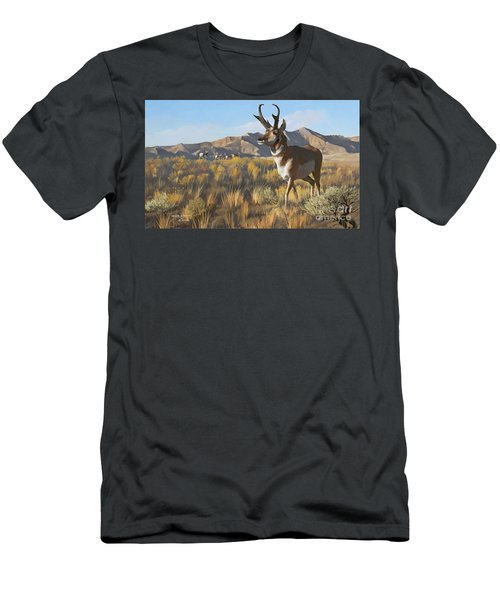 Desert Buck Men's T-Shirt (Athletic Fit)