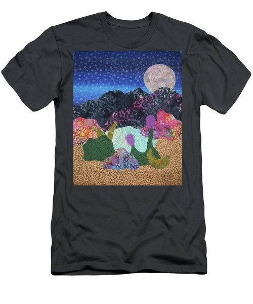 Men's T-Shirt (Slim Fit) featuring the tapestry - textile Desert Dreaming by Ellen Levinson