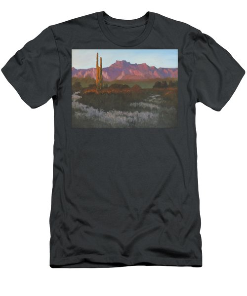 Desert Sunset Glow - Art By Bill Tomsa Men's T-Shirt (Athletic Fit)