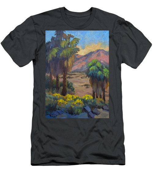 Desert Marigolds At Andreas Canyon Men's T-Shirt (Athletic Fit)