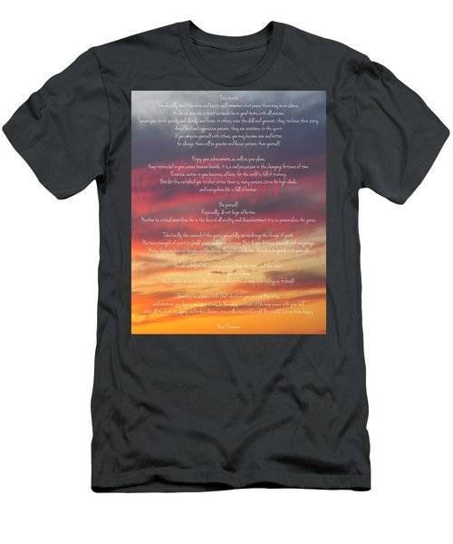Desiderata Sky 2 Men's T-Shirt (Slim Fit) by Terry DeLuco
