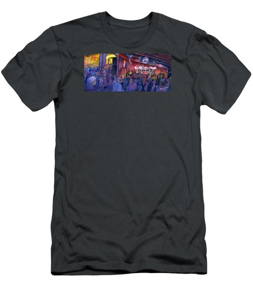 Dewey Paul Band At The Goat Men's T-Shirt (Slim Fit) by David Sockrider
