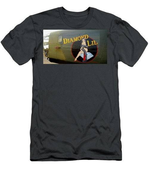 Diamond Lil B-24 Bomber Men's T-Shirt (Athletic Fit)