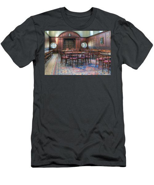 Men's T-Shirt (Slim Fit) featuring the photograph Dining Hall Wren Building by Jerry Gammon