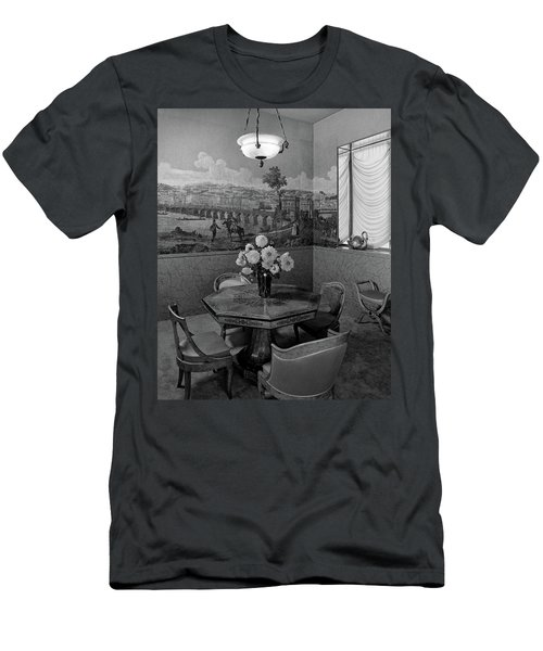 Dining Room In Helena Rubinstein's Home Men's T-Shirt (Athletic Fit)