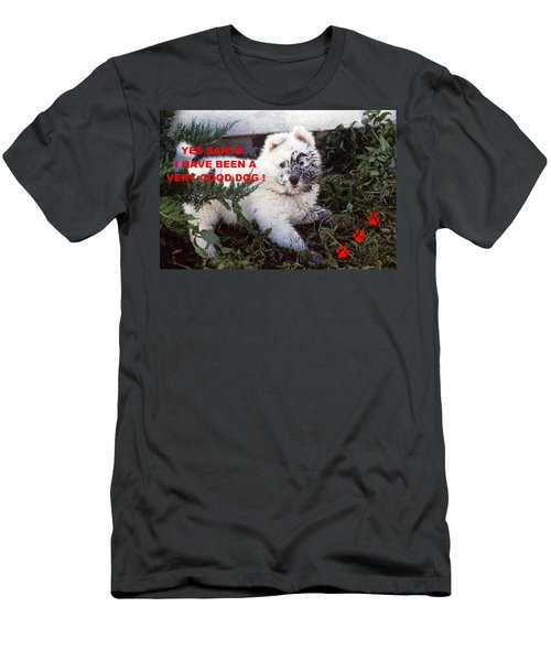 Dirty Dog Christmas Card Men's T-Shirt (Athletic Fit)