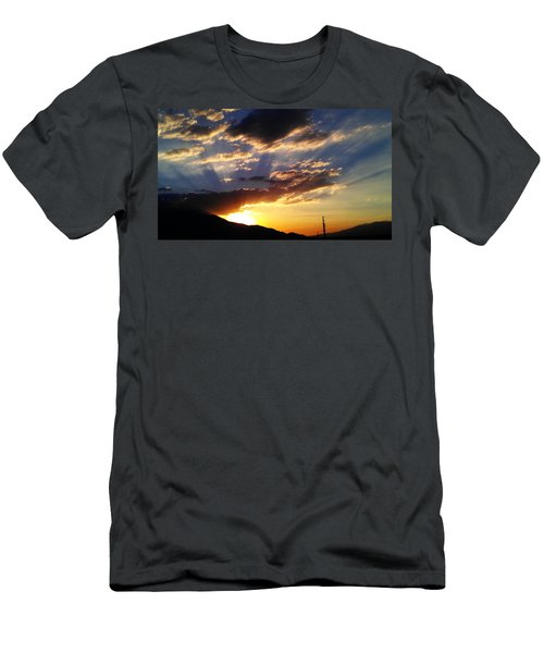 Men's T-Shirt (Slim Fit) featuring the photograph Divine Sunset by Chris Tarpening