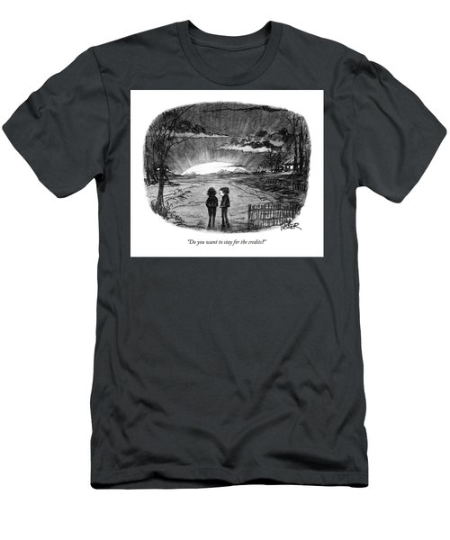 Do You Want To Stay For The Credits? Men's T-Shirt (Athletic Fit)