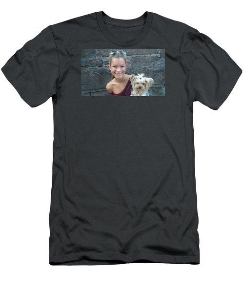 Dog And True Friendship 5 Men's T-Shirt (Slim Fit) by Teo SITCHET-KANDA