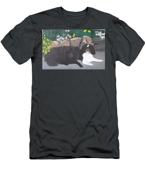 Dogs Daisy And Buttons Men's T-Shirt (Athletic Fit)