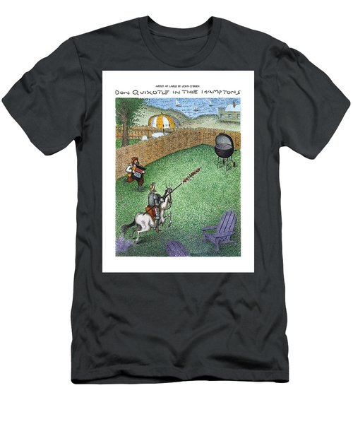 Don Quixote In The Hamptons Men's T-Shirt (Athletic Fit)