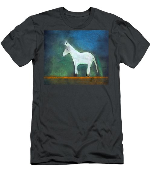 Donkey, 2011 Oil On Canvas Men's T-Shirt (Slim Fit) by Roya Salari