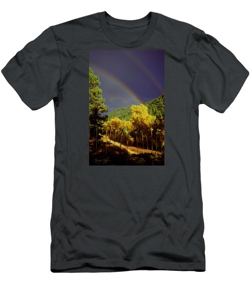 Double Rainbow Autumn Men's T-Shirt (Athletic Fit)