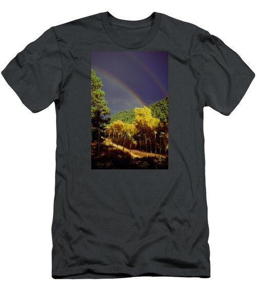 Double Rainbow Autumn Men's T-Shirt (Athletic Fit)