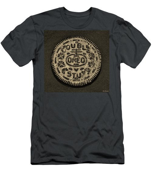 Double Stuff Oreo In Sepia Negitive Men's T-Shirt (Athletic Fit)