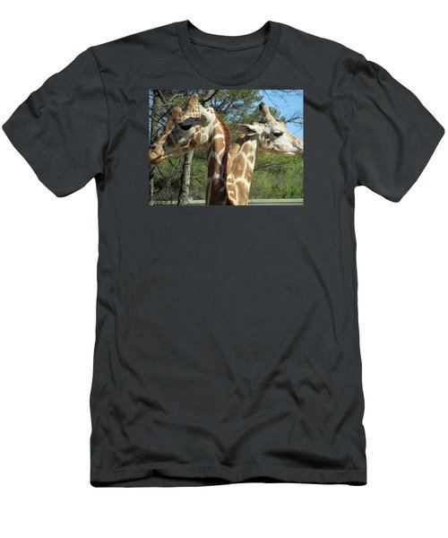 Giraffes With A Twist Men's T-Shirt (Athletic Fit)