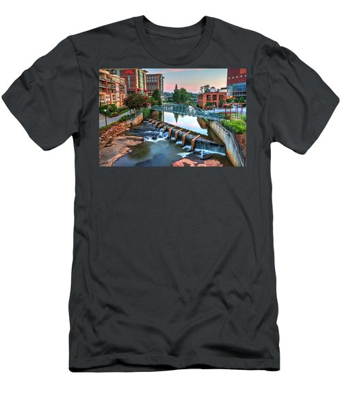 Downtown Greenville On The River Men's T-Shirt (Athletic Fit)