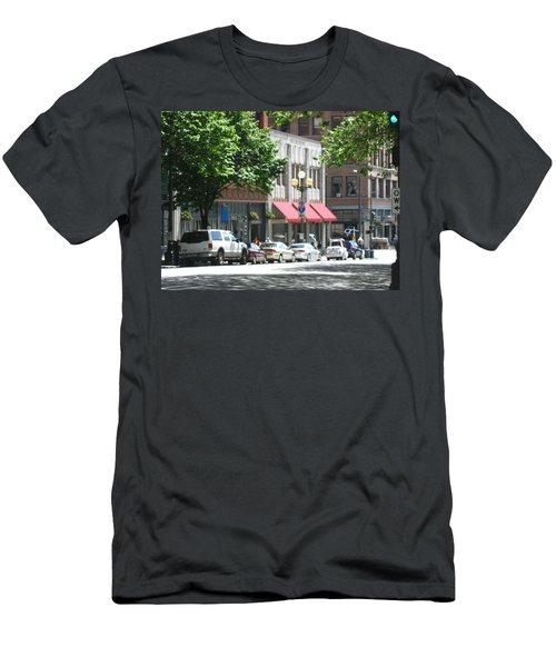 Downtown Neighborhood Men's T-Shirt (Slim Fit) by David Trotter