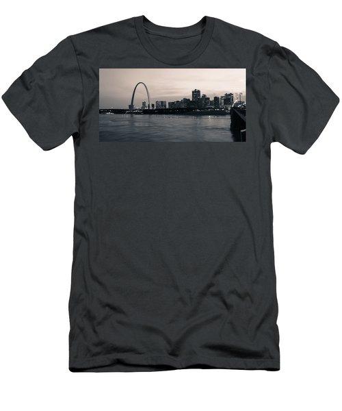 Downtown St. Louis In Twilight Men's T-Shirt (Athletic Fit)