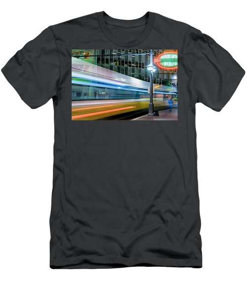 Downtown Train Men's T-Shirt (Athletic Fit)
