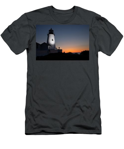 Dramatic Lighthouse Sunrise Men's T-Shirt (Athletic Fit)