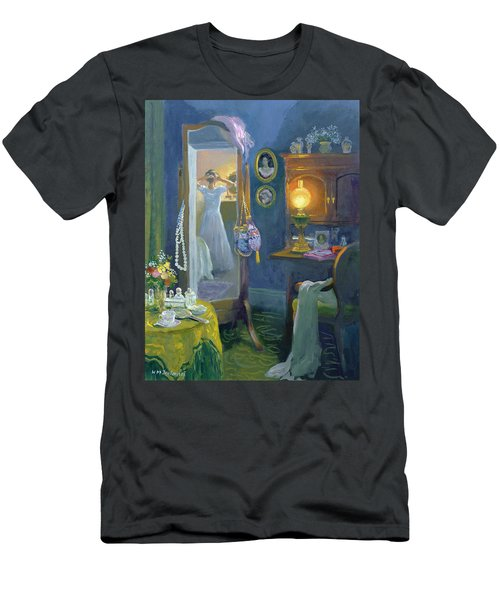 Dressing Room Victorian Style Oil On Board Men's T-Shirt (Athletic Fit)