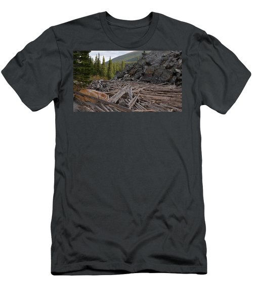 Driftwood And Rock Men's T-Shirt (Athletic Fit)