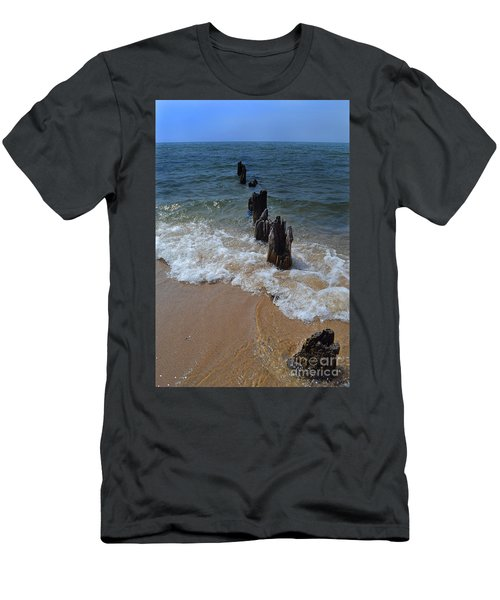 Driftwood And Sea Foam Beach Men's T-Shirt (Athletic Fit)