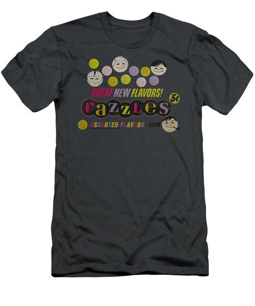 Dubble Bubble - Razzles Retro Box Men's T-Shirt (Athletic Fit)