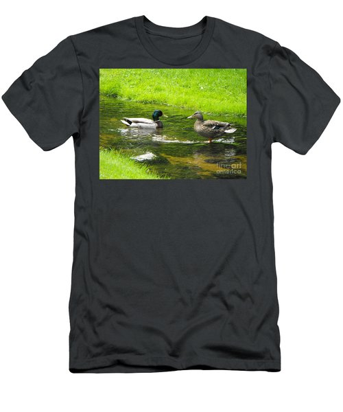 Duck Couple Men's T-Shirt (Athletic Fit)