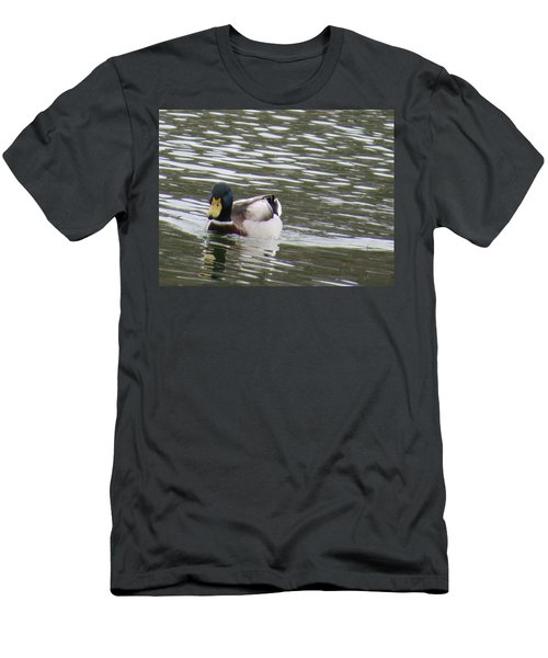 Duck Out For A Swim Men's T-Shirt (Slim Fit) by Aaron Martens