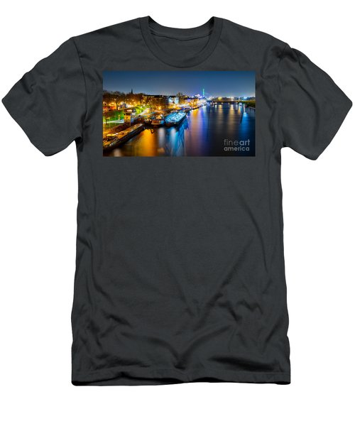 Duisburg Rhine East Bank Dammst Men's T-Shirt (Athletic Fit)