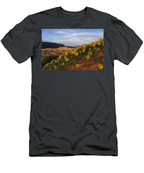Dunes In Bloom Men's T-Shirt (Athletic Fit)