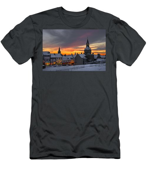 Dunfermline Winter Sunset Men's T-Shirt (Athletic Fit)
