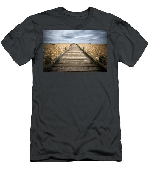 Dungeness Beach Walkway Men's T-Shirt (Athletic Fit)