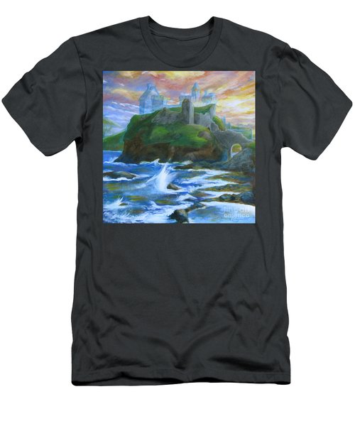Dunscaith Castle - Shadows Of The Past Men's T-Shirt (Slim Fit) by Samantha Geernaert