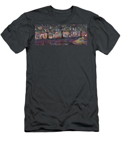 Dupont In The Rain Men's T-Shirt (Slim Fit) by Leela Payne