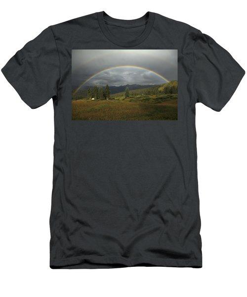 Durango Double Rainbow Men's T-Shirt (Athletic Fit)