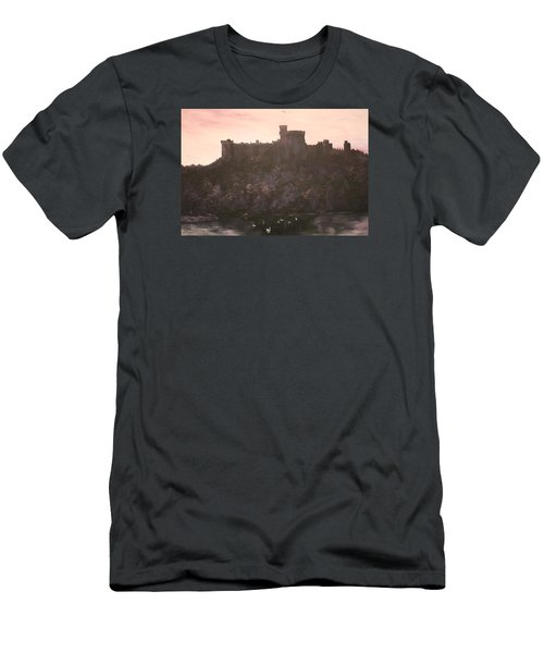 Men's T-Shirt (Slim Fit) featuring the painting Dusk Over Windsor Castle by Jean Walker