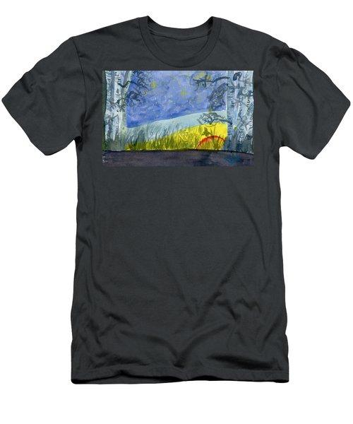 Dusky Scene Of Stars And Beans Men's T-Shirt (Athletic Fit)