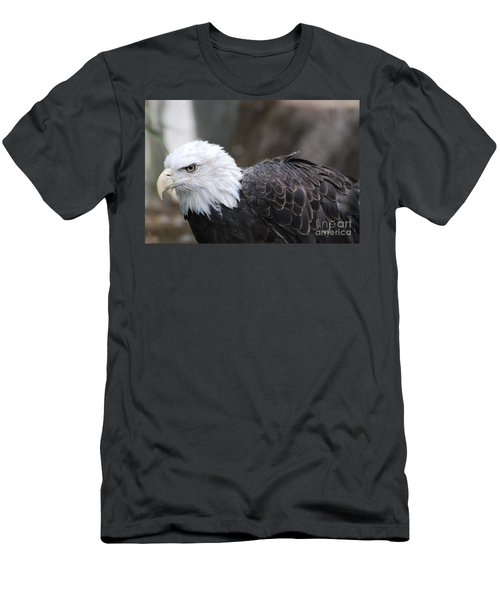 Eagle With Ruffled Feathers Men's T-Shirt (Slim Fit) by DejaVu Designs