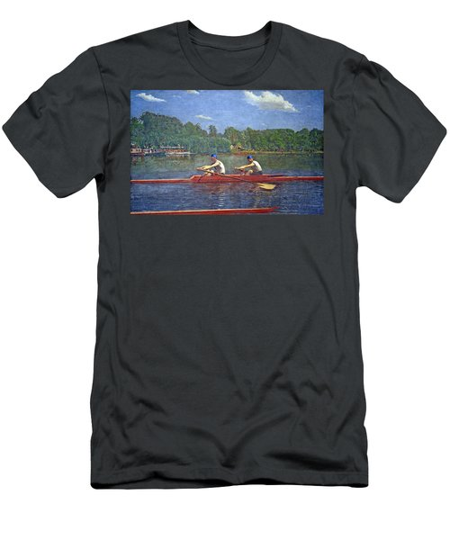 Eakins' The Biglin Brothers Racing Men's T-Shirt (Athletic Fit)