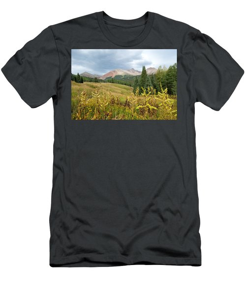 Early Autumn In The San Juans -  Mount Wilson And Wilson Peak Men's T-Shirt (Athletic Fit)